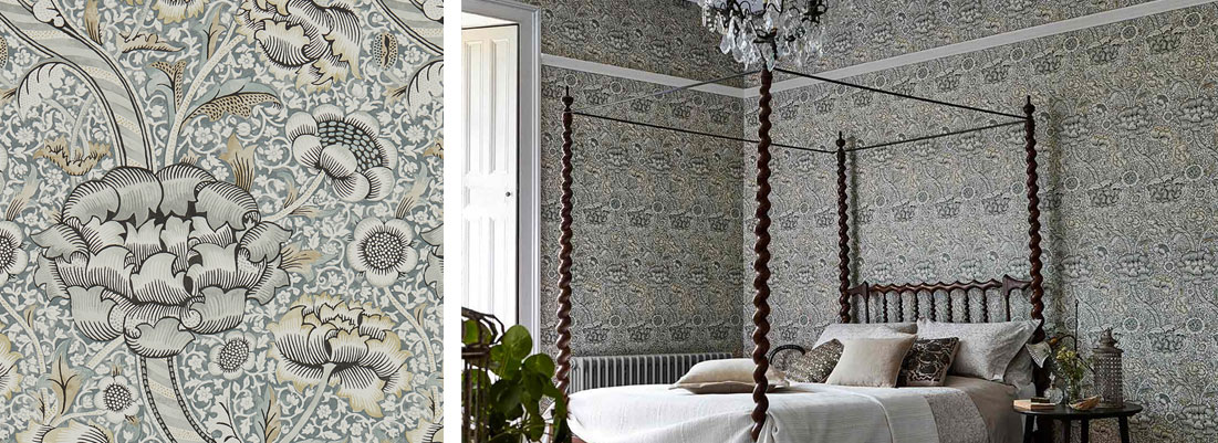 William Morris wallpaper - Curtains by Design