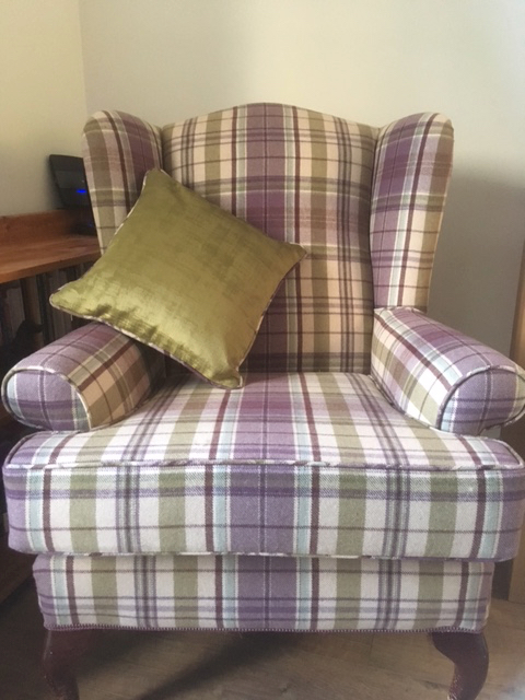 Upholstered chair in Sanderson tartan - Curtains by Design gallery