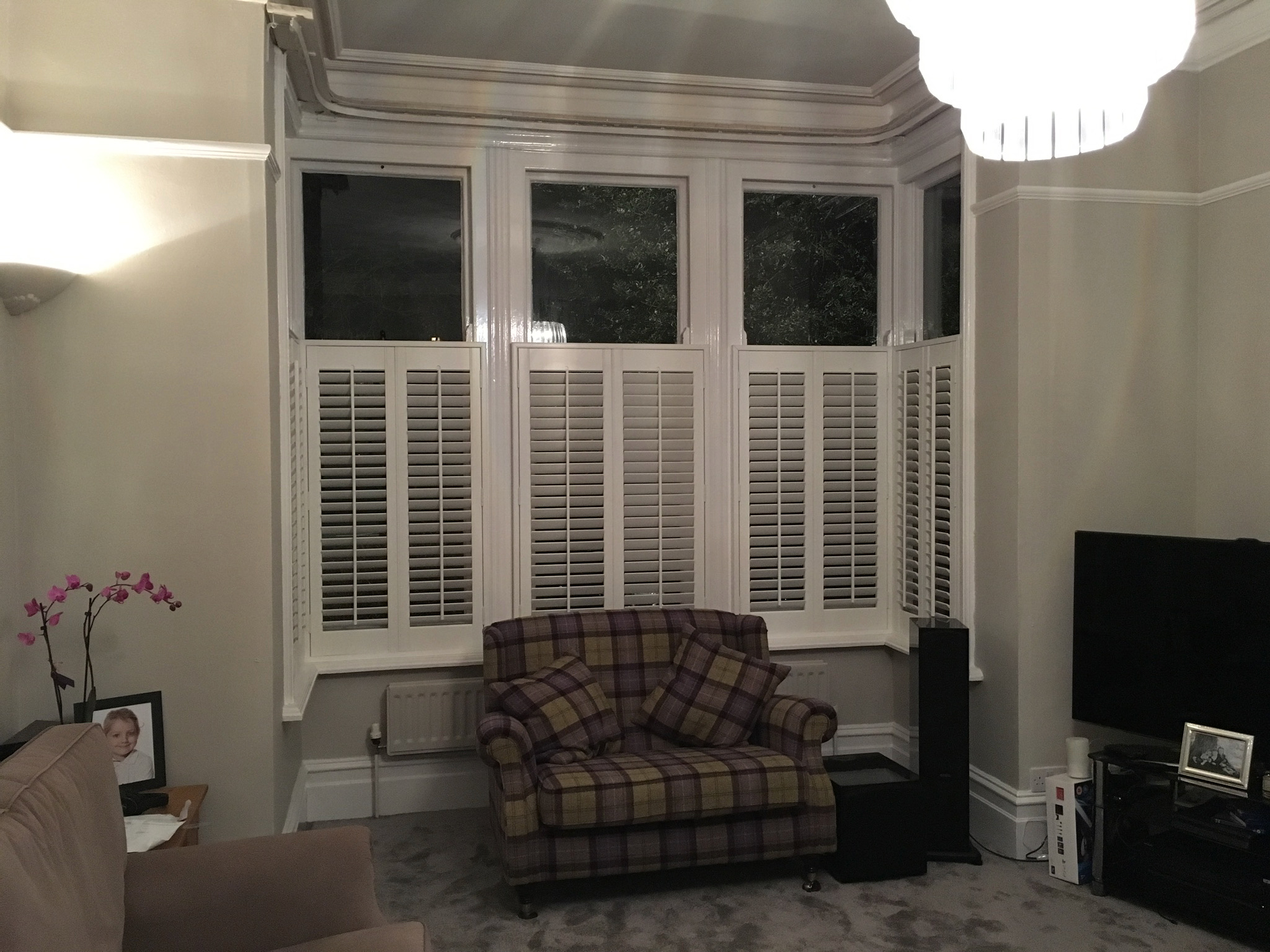 Cafe style faux wood shutters - Curtains by Design gallery
