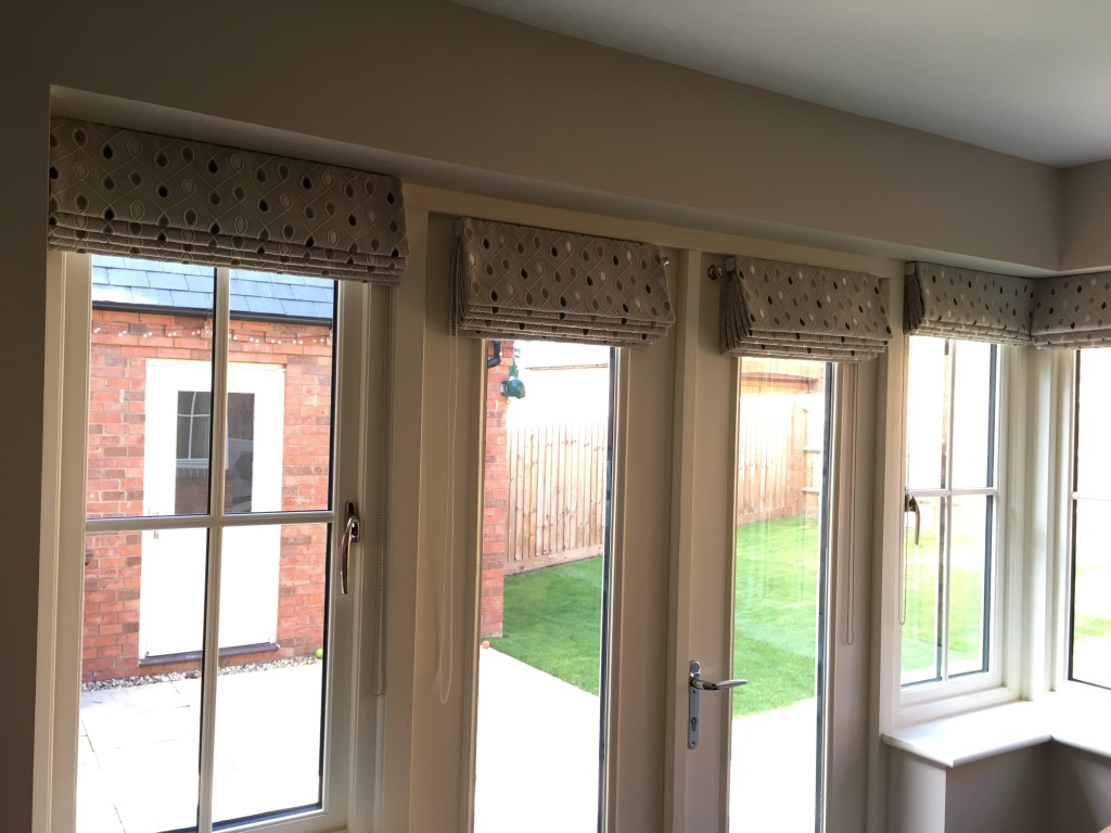 Roman blinds in Clarke and Clarke fabric - Curtains by Design gallery