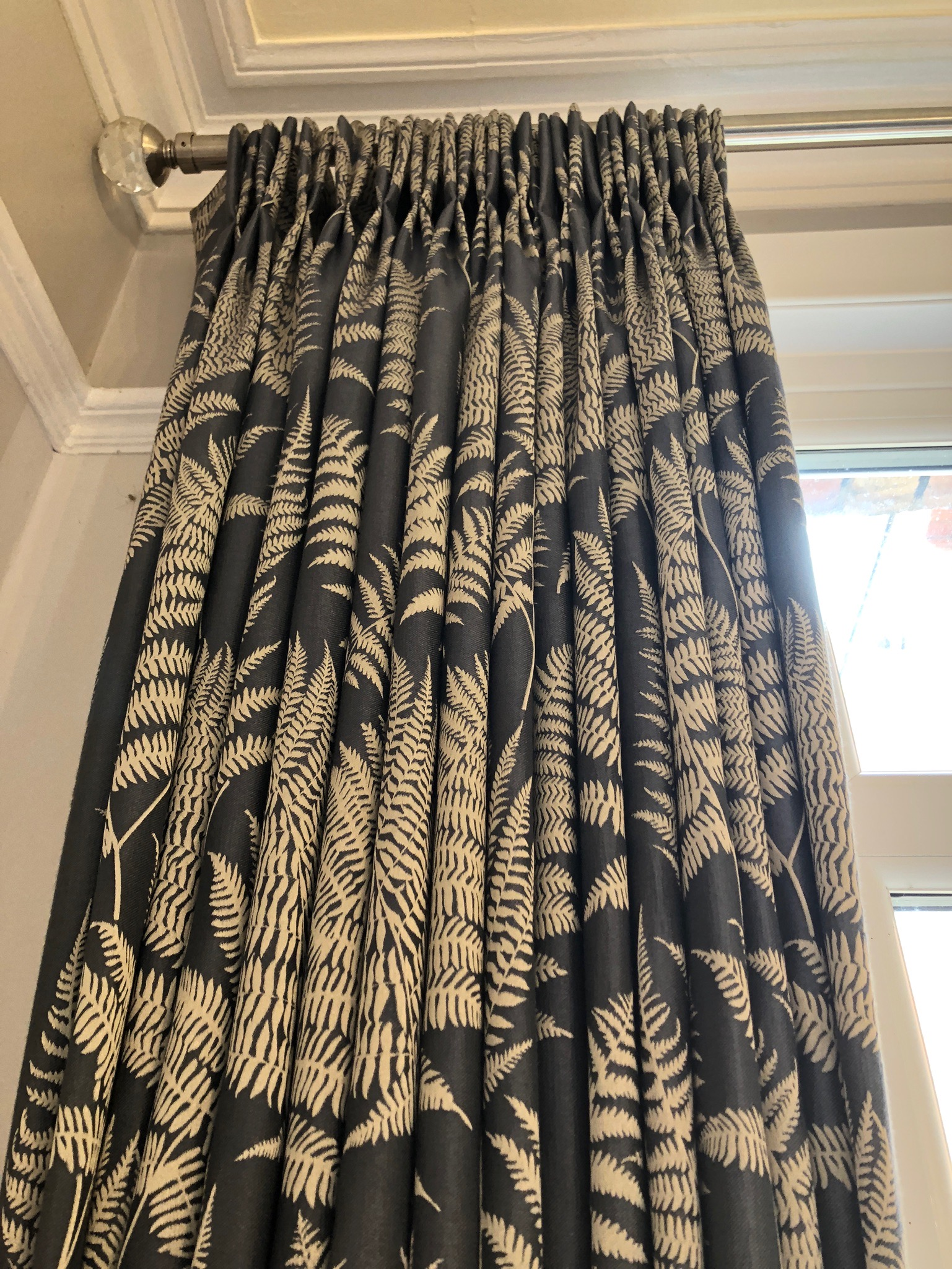 double pinch pleat curtains in navy