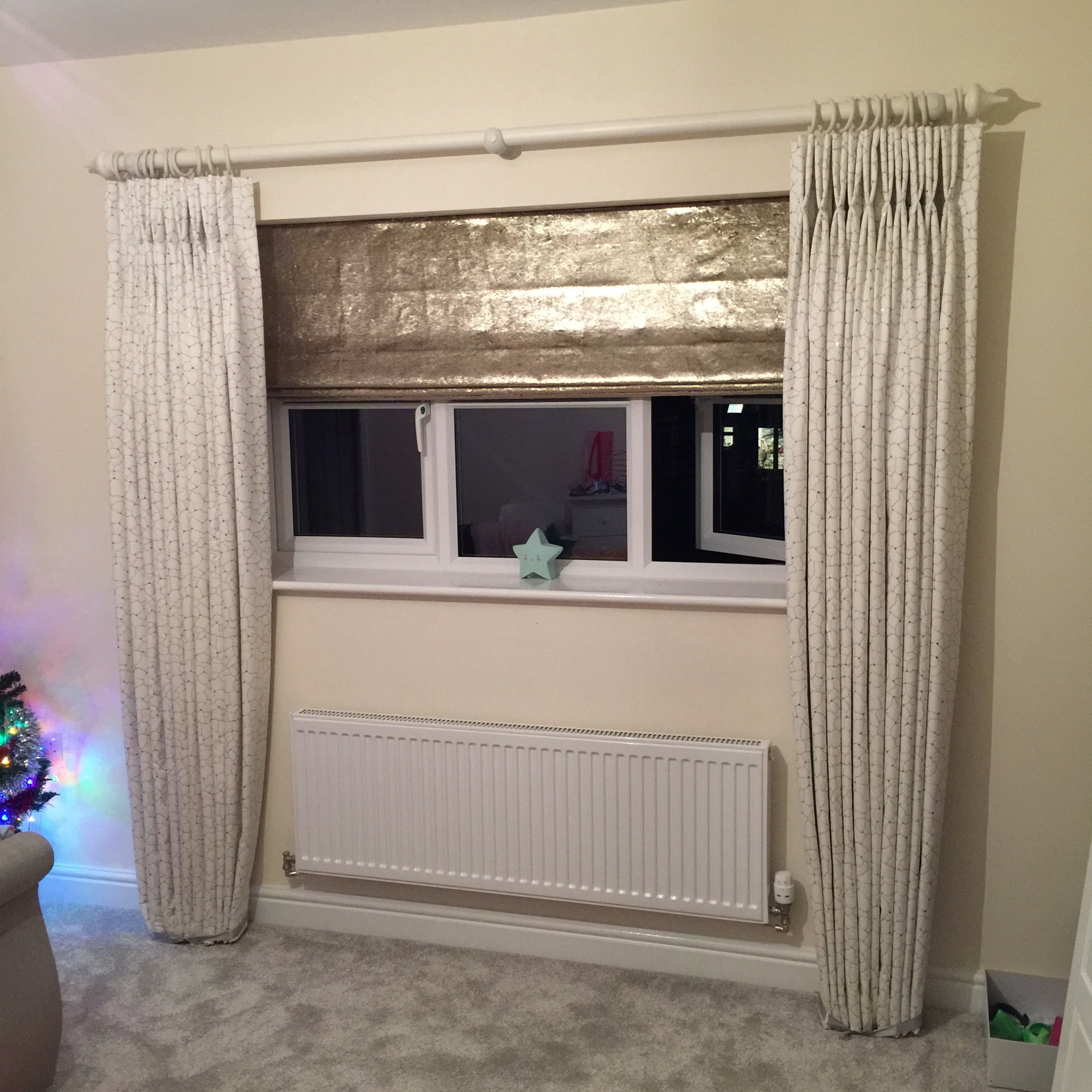 double pinch pleat curtains with sequins