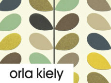 Orla Kiely wallpaper at Curtains by Design