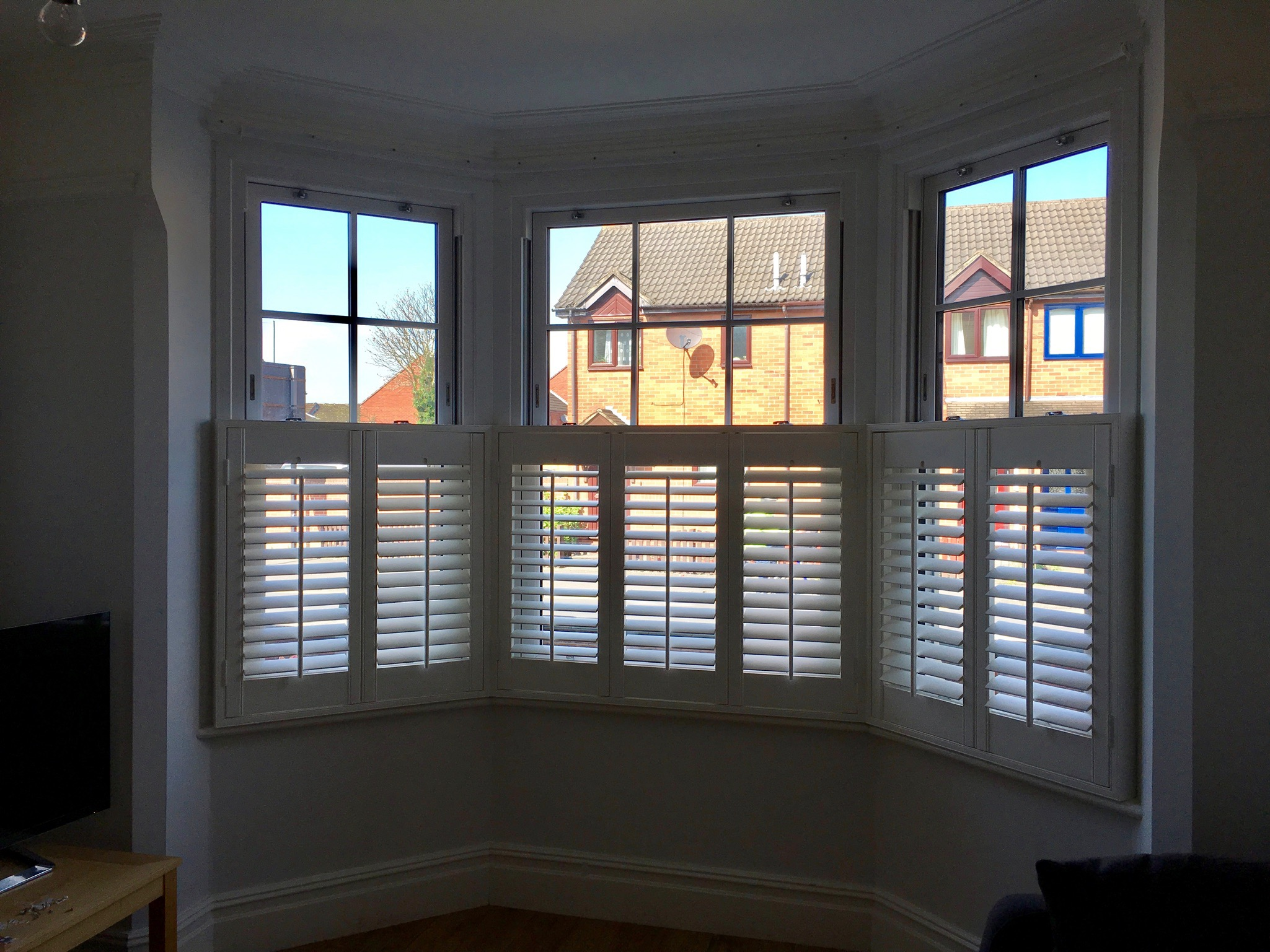 examples of shutters - cafe style
